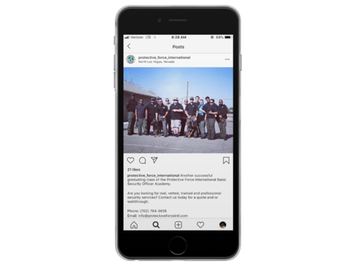 Security Company Instagram Page