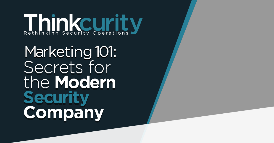 Security Marketing 101
