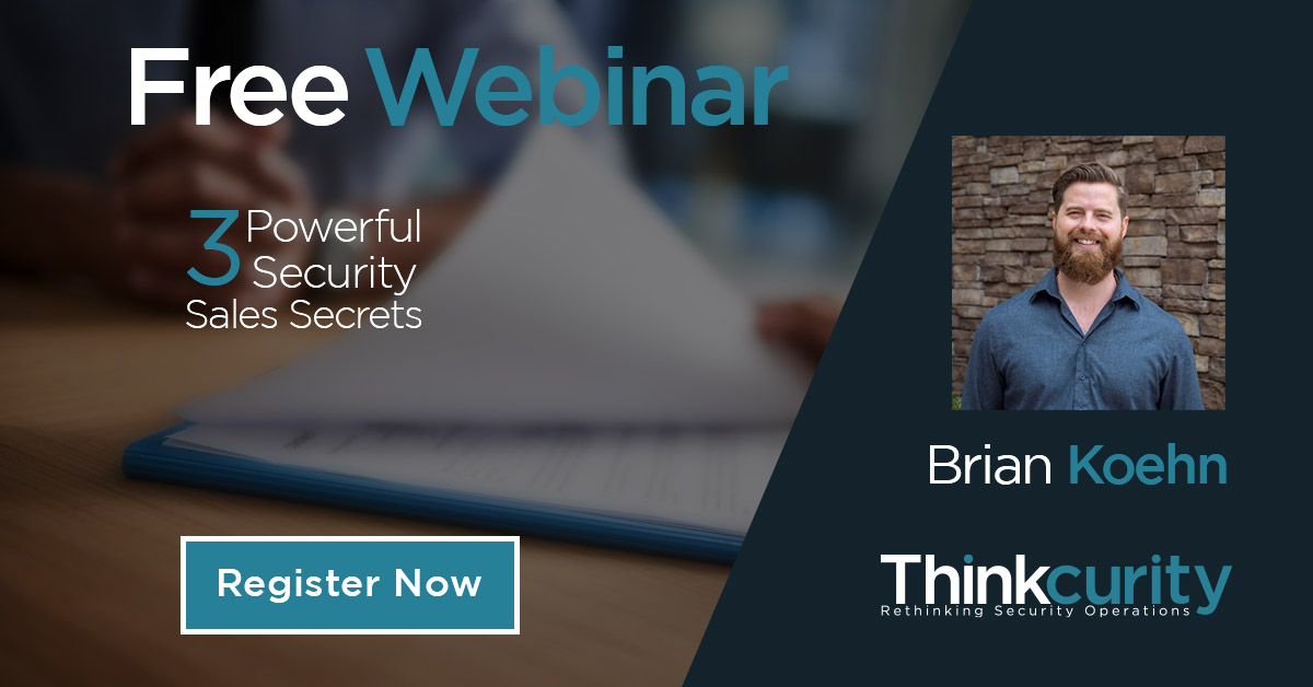 Winning the Modern Security Sale Webinar